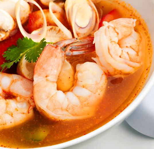 Shrimp Soup with Lemon